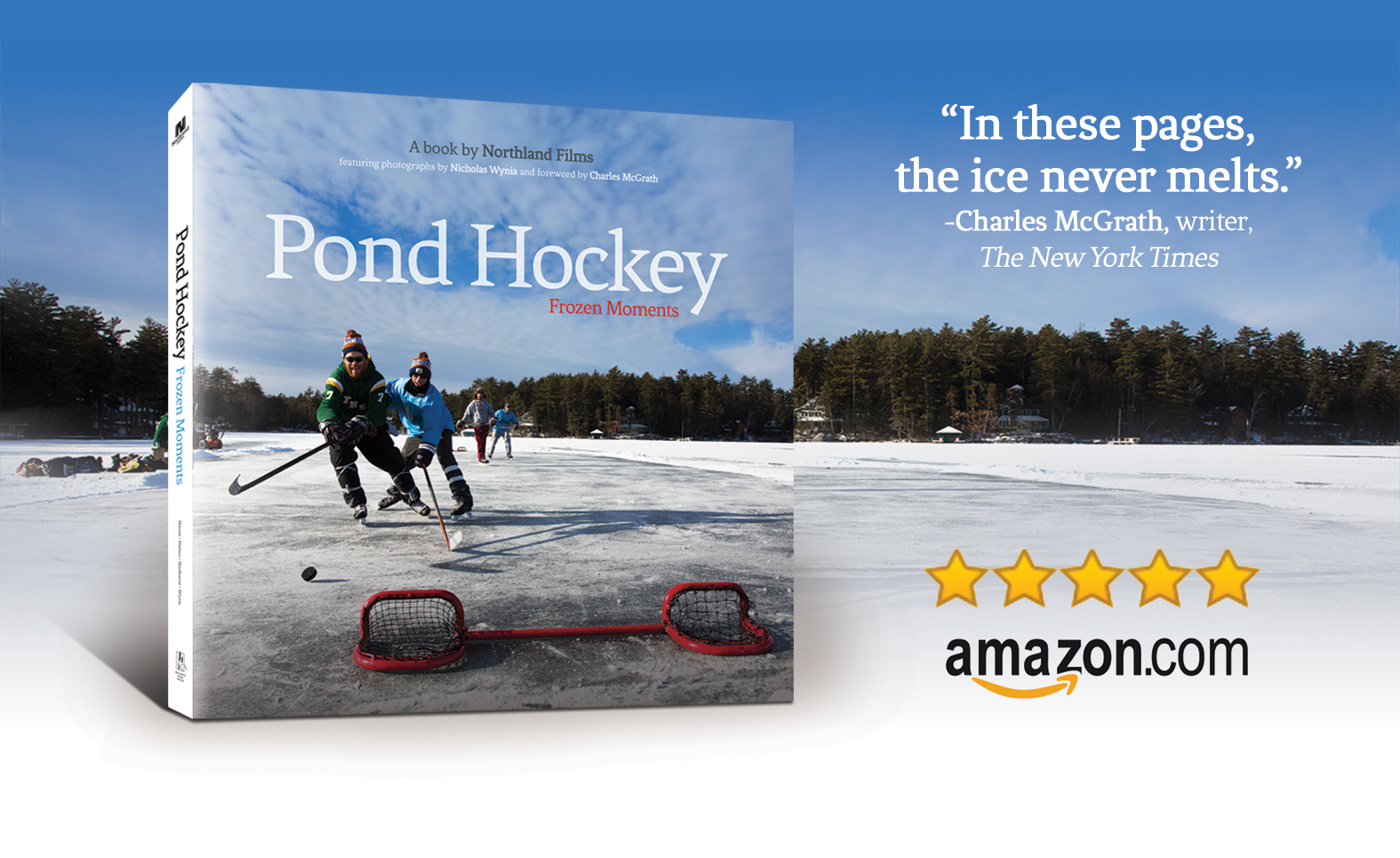 """Pond Hockey: Frozen Moments"" hardcover book"